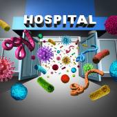 Hospital Germs — Stock Photo