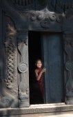Novice at Bagaya Kyaung Monastery — Stock Photo
