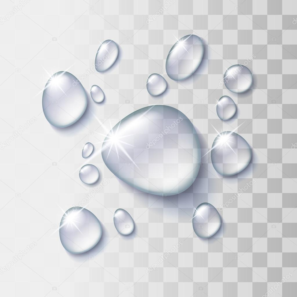 Gota de agua transparente archivo im genes vectoriales for Finestra con gocce d acqua