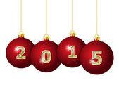 Glass Christmas Balls 2015 — Stock Vector