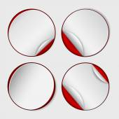Blank, white round promotional sticker — Stock Vector