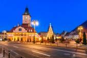 Christmas Market, Brasov, Romania — Stock Photo