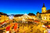 Sibiu Christmas Market, Romania — Stock Photo