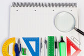 Place background for text on the Agenda office. Supplies business. — Stock Photo