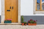 Elements of the old house in the town of Tavira. Portugal. — Stock Photo
