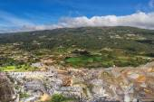 Quarry mine in a landscape. Extraction resources. — Stock Photo