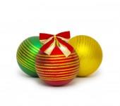 Vánoční koule izolovaných na bílém pozadí výřez — Stock fotografie