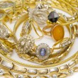 Large collection of gold jewellery — Stock Photo #66868237