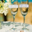 Tropical wedding ceremony, accessories — Stock Photo #55460131