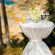 Tropical wedding ceremony, accessories — Stock Photo #55460157