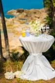 Tropical wedding ceremony, accessories — Stock Photo
