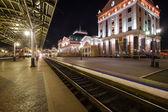 Krasnoyarsk, Russia - September 26, 2014: Railway Station Square — Stock Photo