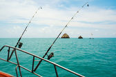 Sea fishing from the boat, — Stockfoto