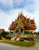 Excursion to the temple of Wat Plai Laem on the island Samui — Stock Photo