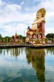 Excursion to the temple of Wat Plai Laem on the island Samui — Stockfoto