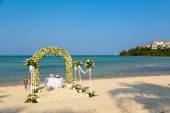 Wedding ceremony on a beach  — Stock Photo