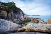 Sea landscape to Samui rocks the grandfather and the grandmother — Foto de Stock