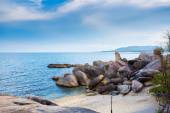 Sea landscape to Samui rocks the grandfather and the grandmother — Fotografia Stock