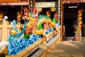 celebration of the Chinese new year in the temple Saphan Hin — Stock Photo
