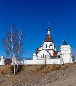 Krasnoyarsk, Russia - April 2, 2015: excursion to the Uspensky m — Fotografia Stock
