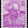Stamp shows a head of the Joel by Michelangelo — Stock Photo #57316387