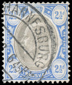Stamp printed in UK shows King George V — Stock Photo
