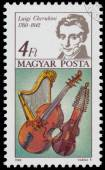 Stamp printed in Hungary shows Luigi Cherubini — Stock Photo