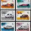 Set of stamps printed in Hungary shows cars — Stock Photo #59527745