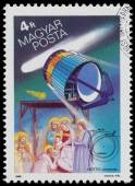 Stamp printed by Hungary, shows Halley's Comet — Stockfoto