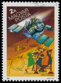 Stamp printed by Hungary, shows Halley's Comet — Стоковое фото