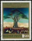 Stempel gedrukt in Hongarije toont foto door Csontvary — Stockfoto