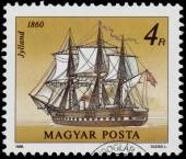 Stamp printed in Hungary shows Jylland — Stock Photo