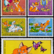 Stamps printed by Hungary shows Scenes from Cartoon Vuk — Stock Photo #59911757