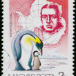 Stamp printed by Hungary shows discovering South Pole — Stock Photo #59978843