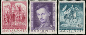 Stamps printed in Hungary shows famous Hungarian poet Sandor Pet — Stock Photo