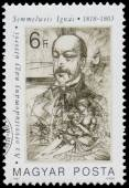 Stamp printed in Hungary shows Semmelweis Ignac — Stock Photo