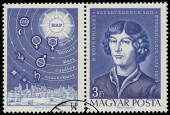 Stamp printed by Hungary shows Copernicus — 图库照片