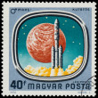 Stamp shows Space Probes to Mars and Venus — Stock Photo #62358523