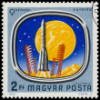 Stamp shows Space Probes to Mars and Venus — Stock Photo #62358379