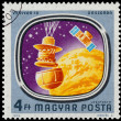 Stamp shows Space Probes to Mars and Venus — Stock Photo #62358995