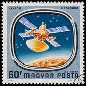 Il bollo Mostra sonde spaziali a Marte e Venere — Foto Stock