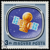 Stamp shows Space Probes to Mars and Venus — Foto de Stock