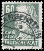 Stamp printed in Germany shows portrait of Georg Friedrich Hegel — Stock Photo