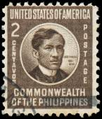 Stamp printed in Philippines shows Jose Rizal — Stock Photo