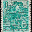 Stamp printed in GDR, shows workers — Stock Photo #62617467