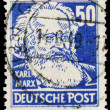 Постер, плакат: Stamp printed in Germany shows portrait of Karl Marx