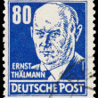 Stamp printed in Germany shows portrait of Ernst Thalmann — Stock Photo #62621831