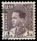 Stamp printed in Iraq shows King Ghazi — Stockfoto