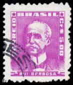 Stamp printed by Brazil, shows Ruy Barbosa — Stock Photo