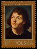 Stamp printed in Poland shows Nicolaus Copernicus — Stock Photo